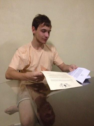 Gean Zanelato e a carta de J.K.Rowling.