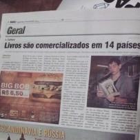 Matéria no Jornal Notisul, de Tubarão (2015).