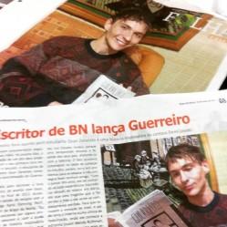 Matéria no Jornal Folha do Vale, de Braço do Norte (2015).