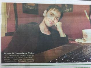 Capa do Jornal Notisul, de Tubarão. (2018)
